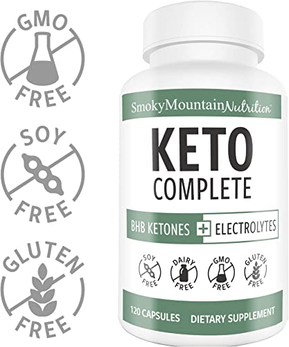 Keto BHB Salts Plus Electrolytes Supplement 120 Capsules BHB Exogenous Ketones 825mg Calcium, Potassium, Sodium, Magnesium, Vitamin D – Ketogenic Diet Pills for Ketosis Weight Loss