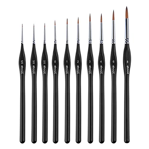 Paint Brushes Set Miniature Artist Painting Brushes for Paintings Art Acrylic, 10 Pieces