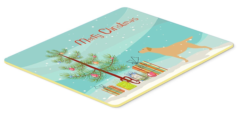 Caroline 's TreasuresイエローLabrador Retriever Merryクリスマスツリーキッチンやバスマット20 x 30 bb2915cmt、20hx30 W、マルチカラー   B01M10KV20