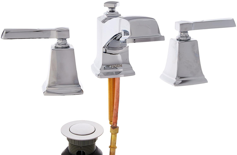 Moen WS84820 Two-Handle Low Arc Bathroom Faucet Chrome