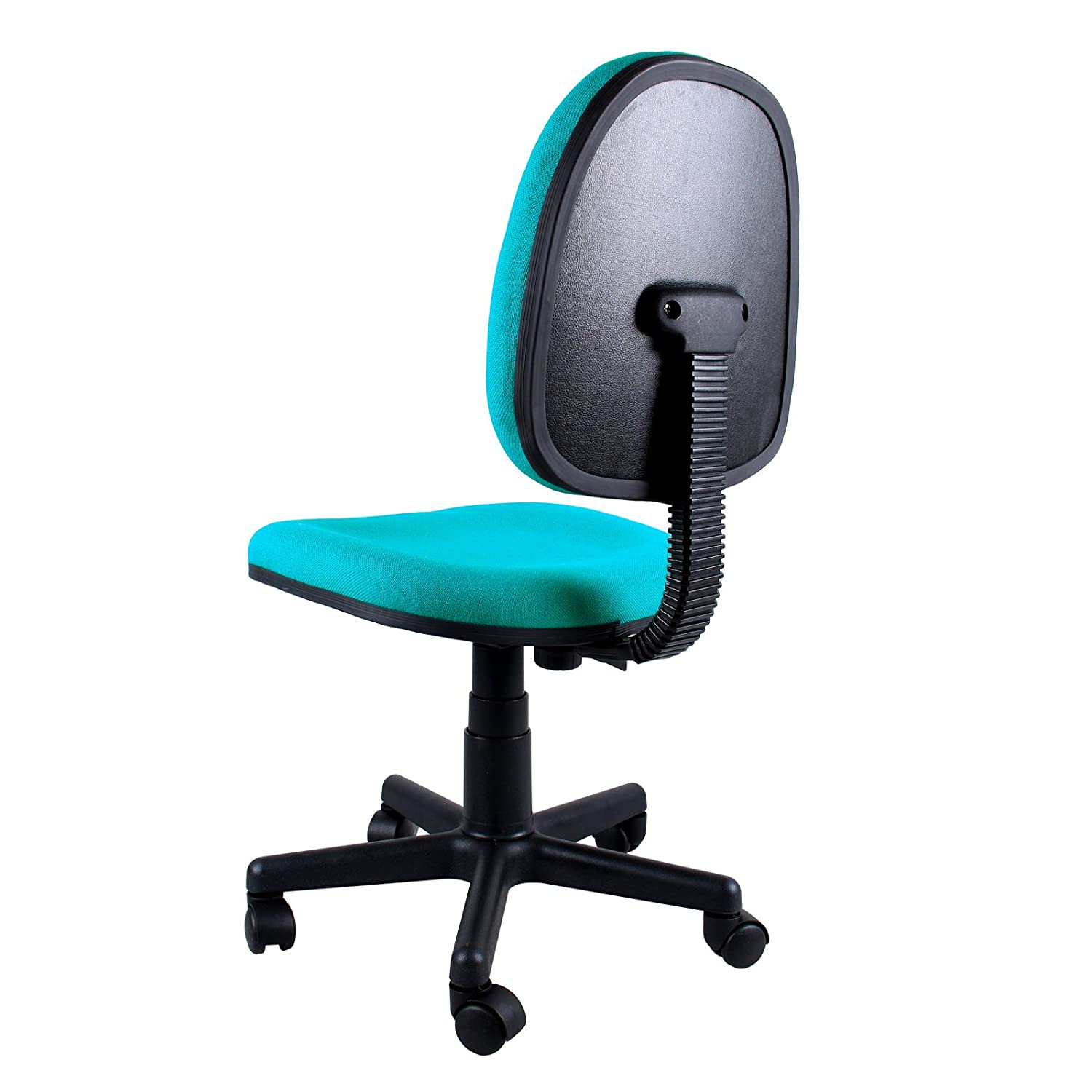 Computer chairs on sale or clearance - Amazon Com Clearance Emall Life Mid Back Desk Chair 360 Adjustable Swivel Office Chair Armless Fabric Task Chair Aquamarine Kitchen Dining