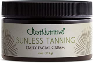 product image for Sunless Tanning - Daily Facial Cream - Best Self Tanner for Face with Natural & Organic Ingredients - 4 oz - Just Nutritive -