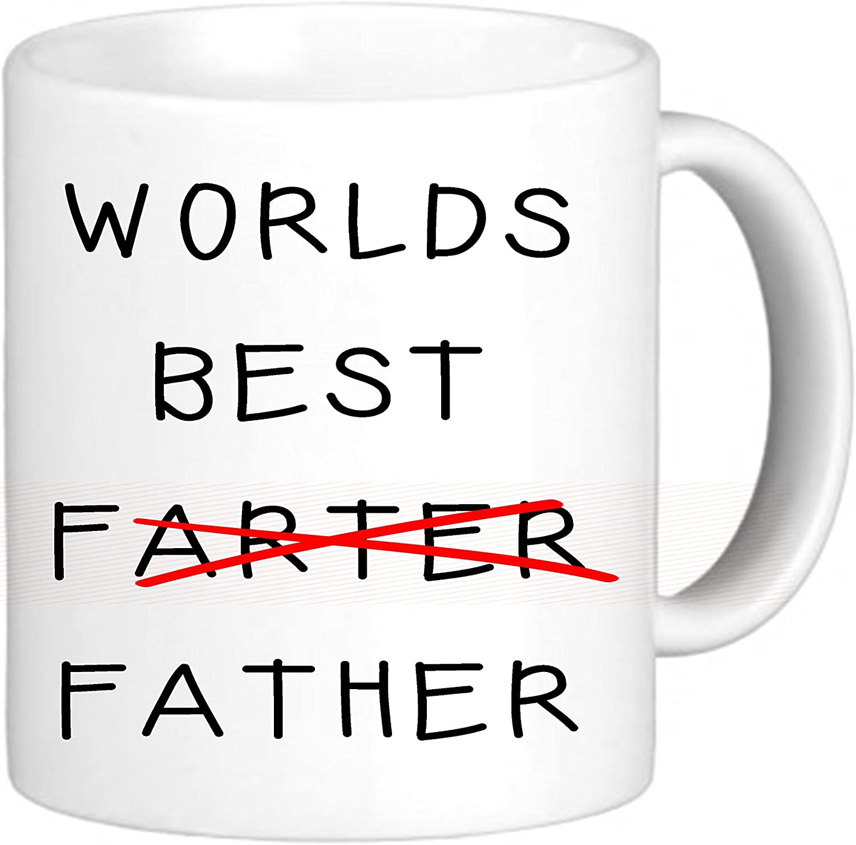 Del Mundo Best farter father- Novelty Funny chiste ml té/café taza–regalo perfecto para papá, los padres para padres día, cumpleaños, Navidad, cualquier ocasión.