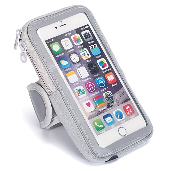 Sports Armband Running Cell Phone Arm Band Sweatproof with Zipper Pouch Touch Screen for iPhone 7