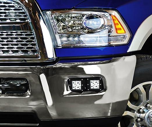 reajuste de focos para apagado autom/ático 14400LM 2 uds 4 pulgadas 144 W l/ámpara antiniebla impermeable luz LED de trabajo IP68 KIMISS Faros antiniebla para conducci/ón todoterreno