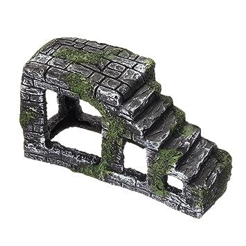 dDanke Rampa de plataforma para decoración de acuario, para tortugas y reptiles, hecha a mano con resina: Amazon.es: Productos para mascotas