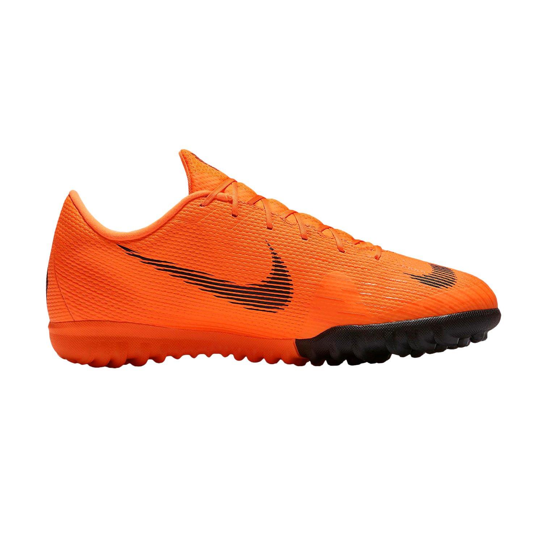 Nike Jr Vaporx 12 Academy GS TF, Zapatillas de Deporte Unisex Adulto 38.5 EU|Multicolor (Total Orange/Black/T 810)