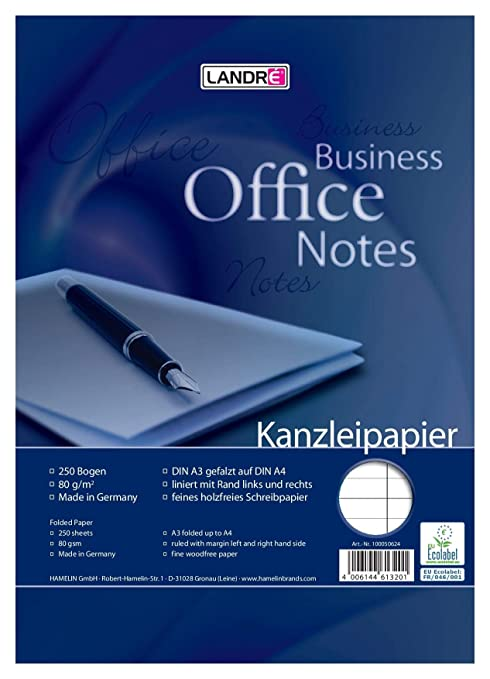 Amazon.com: Landre 100050618 Office - Papel para folios (DIN ...
