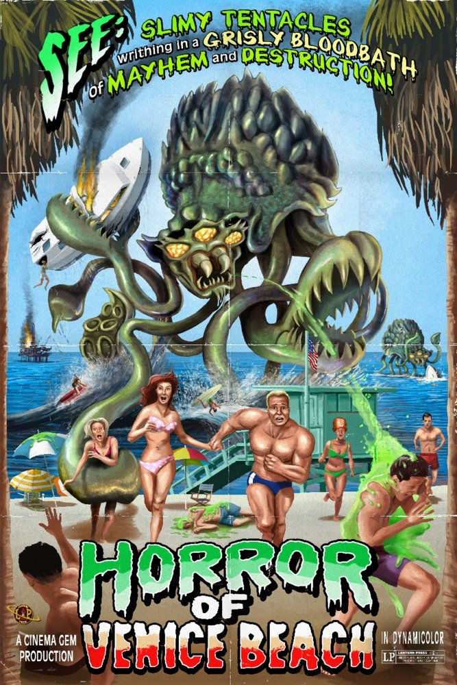 Venice Beach , California – Horror of Venice Beach 12 x 18 Art Print LANT-43548-12x18 B00N5CQUE0  12 x 18 Art Print