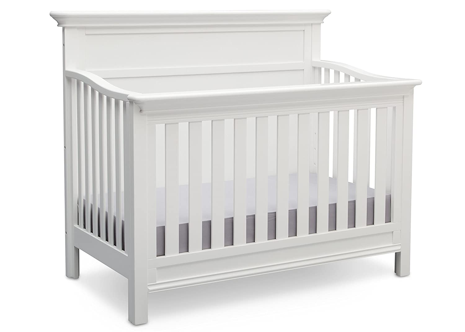Serta Fairmount 4-in-1 Convertible Baby Crib, Bianca White