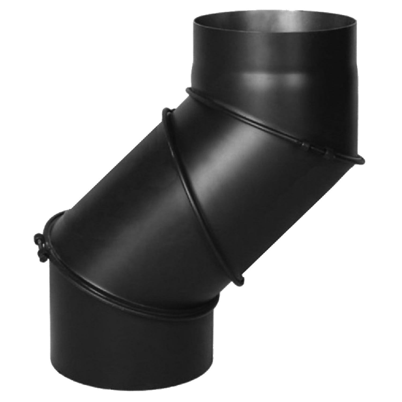 90/° 3-teilig mit Drosselklappe und T/ür f/ür Kaminrohe//Raurohre Ofenrohr Winkel drehbar 0/° Ofenrohre mit /Ø 120mm in schwarz