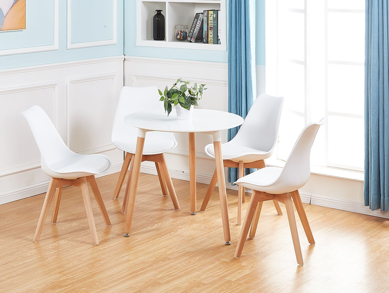 eggree table ronde salle manger scandinave table de cuisine moderne style nord ebay. Black Bedroom Furniture Sets. Home Design Ideas