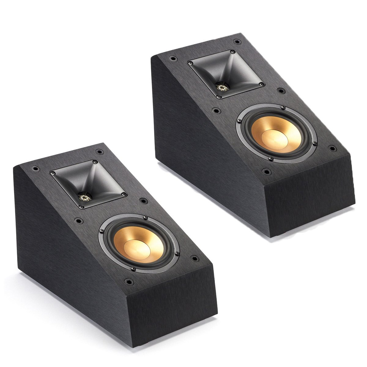 Klipsch Surround Dolby Atmos Bookshelf Home Speaker Set of 2, Black Vinyl (R-14SA)