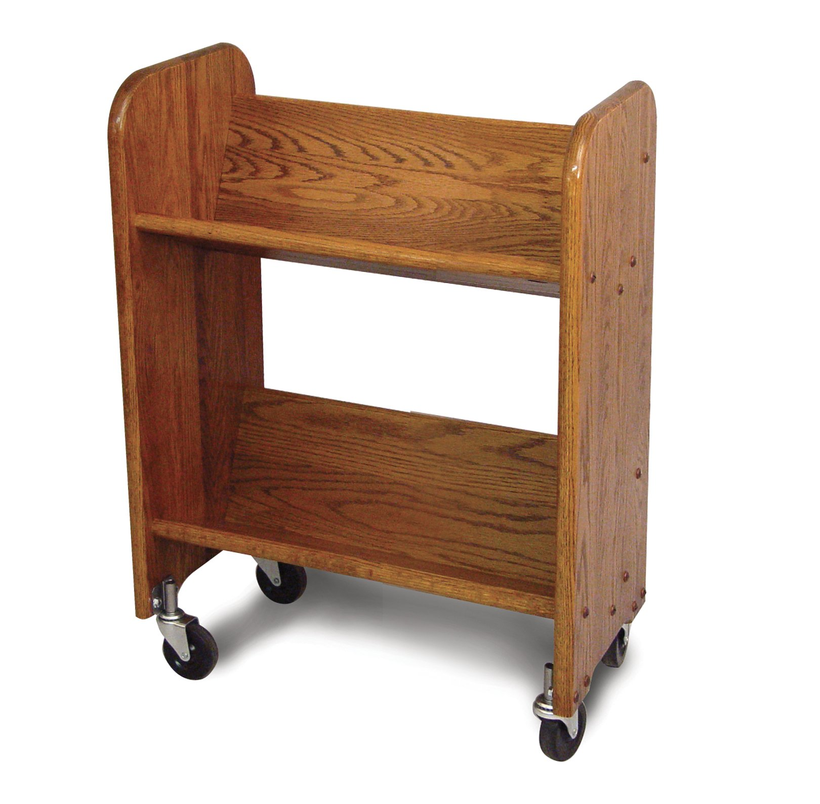 Catskill Craftsmen Bookmaster Rack with Tilted Shelves, Walnut Stained Oak Grain