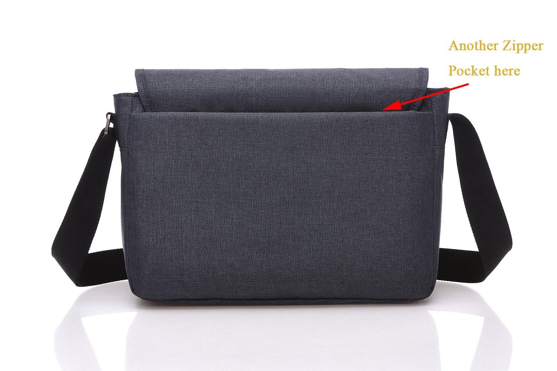 Bolso Bandolera Hombro, itPlus Bolsa del día del hombro que lleva con la correa de hombro ajustable Bolsa multi-compartimiento del caso de la manga para el ...