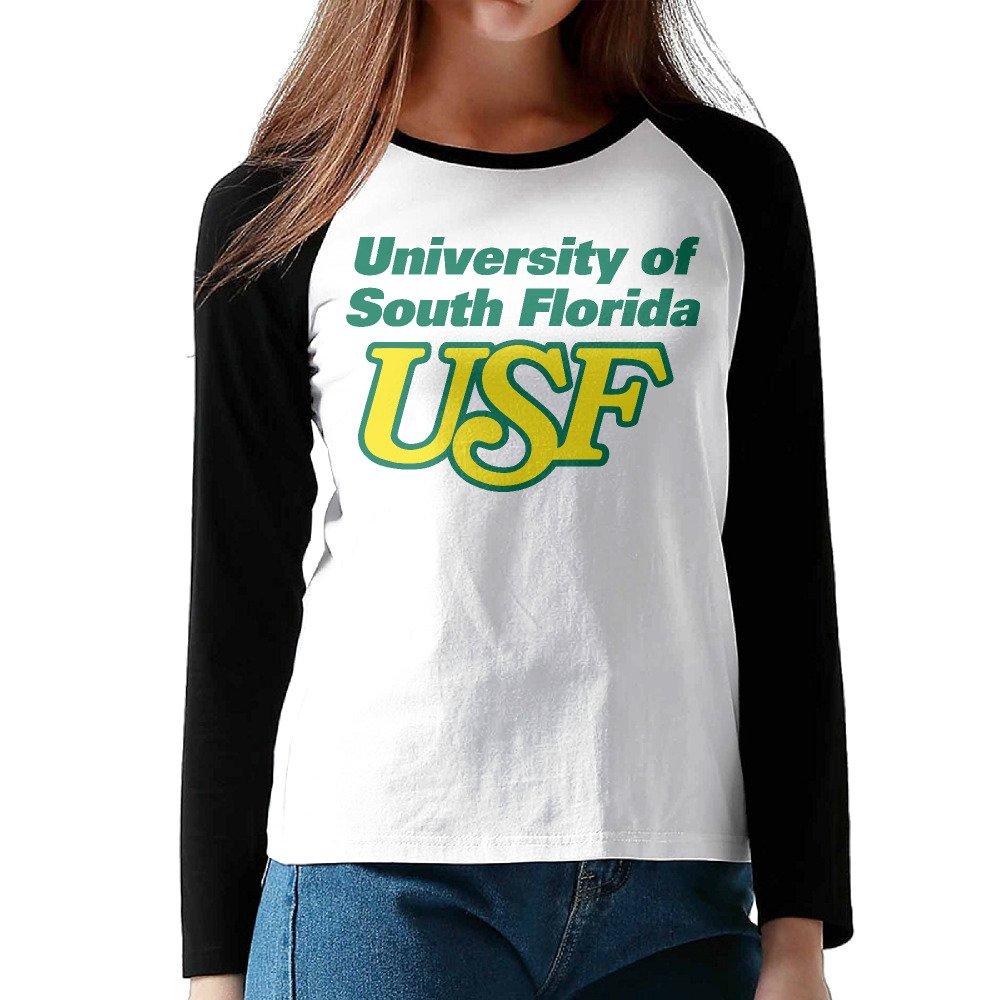 MEGGE University Of South Florida Female Shoulder Long Sleeve T Black
