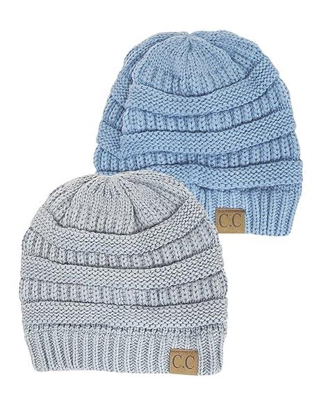 Amazon.com  Black Thick Slouchy Knit Oversized Beanie Cap Hat 9cd7ddfb000c