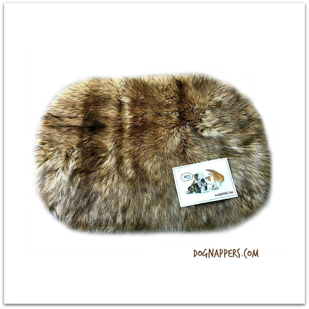 well-wreapped DogNappers Plush Faux Fur Dog Bed - Cat Mat - Soft Padded Shaggy Wolf Pet Bed