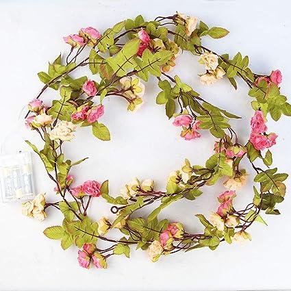Amazon.com: Ameisa - Guirnalda de flores artificiales para ...
