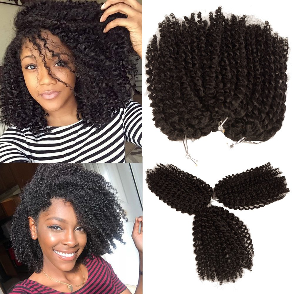 Buy 3pcs Pack Marley Bob Kinky Curl 8 Inch Afro Kinky Twist Hair Soft Synthetic Crochet Braiding Hair Extention 1b Online At Low Prices In India Amazon In