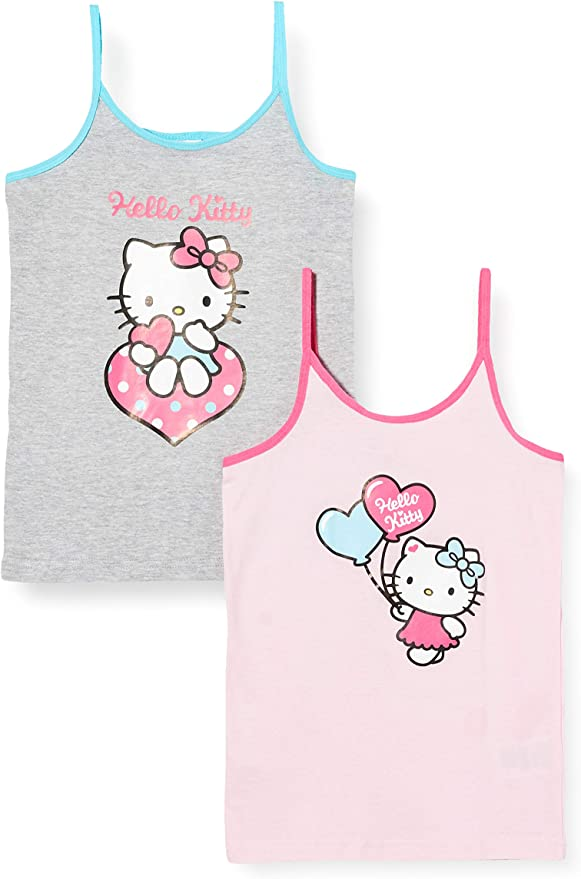Hello Kitty Camiseta sin Mangas para Niñas: Amazon.es: Ropa y ...