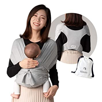 Sensible Sleep Solution Mint, XL Konny Baby Carrier Infants to 45 lbs Toddlers Soft and Breathable Fabric Ultra-Lightweight Hassle-Free Baby Wrap Sling Newborns