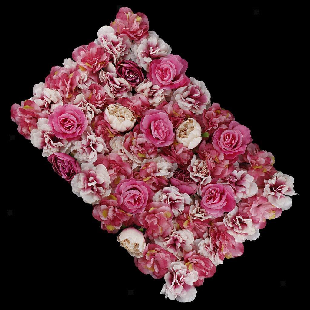 20pcs Artificial Wedding Background Flower Wall Petals Panels Hot Pink