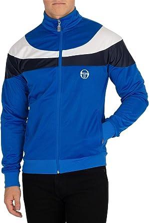 Sergio Tacchini Hombre Chaqueta con Logo, Azul, X-Large ...