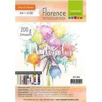 Vaessen Creative Florence 2911-3003 Aquarelpapier A4 in ivoor wit, van 200 g/m² glad papier, 100 vellen voor…