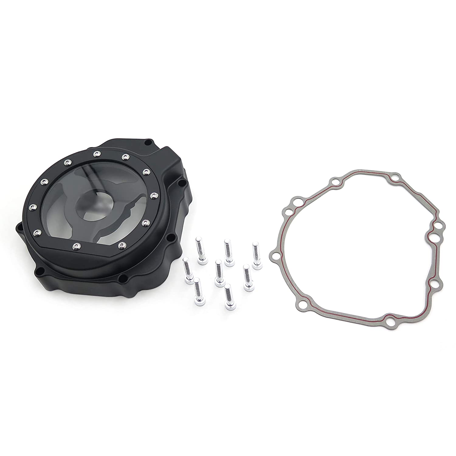Motorcycle Engine Stator cover see through FOR Suzuki 2005-2008 GSXR1000 Black left SMT MOTO