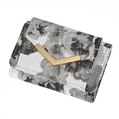 3577ebdb39b8 Amazon.co.jp: 全8色 小さい 財布 レディース コンパクト 三つ折りミニ ...