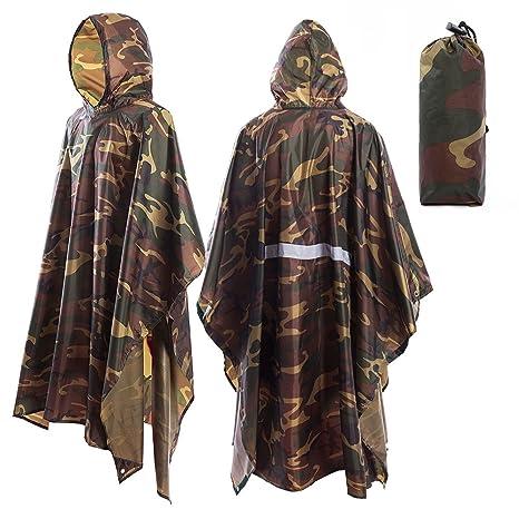più economico 8e6dc 6384f TBoonor Poncho Pioggia Impermeabile Mantella Poncho Impermeabile Tempo  Libero Cappotto Pioggia Cape Zaino Copertura Protezione Pioggia Pioggia  Rain ...