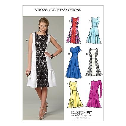 Vogue V9078 Costura para Confeccionar Blusas, Trajes, Vestidos, Moda, VGE 9078 E5