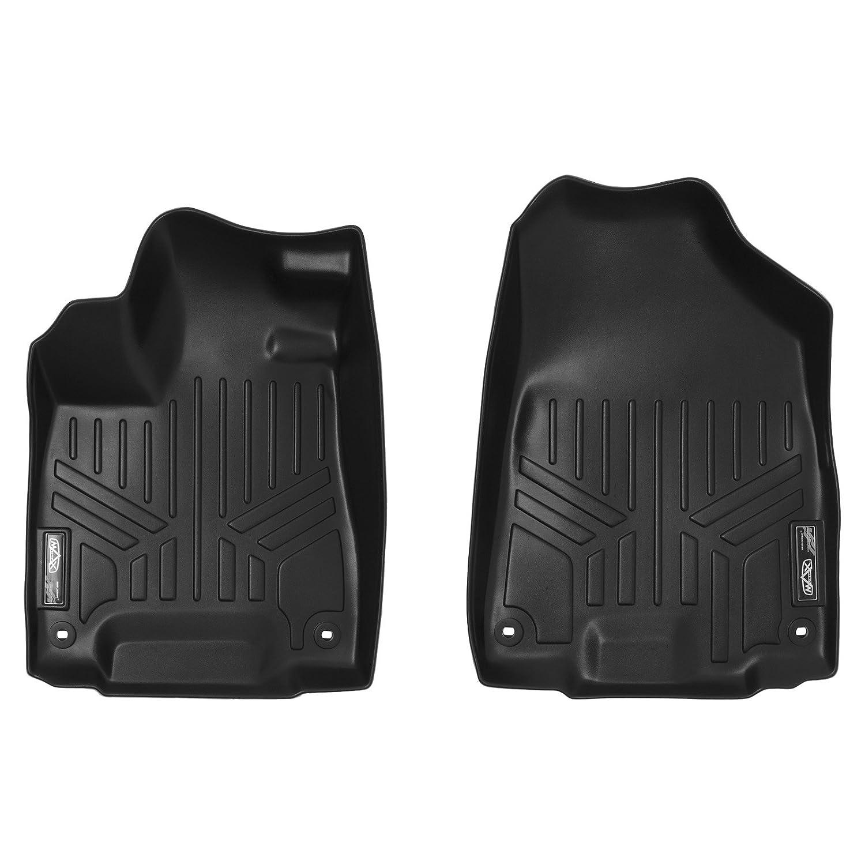 SMARTLINER Custom Fit Floor Mats 1st Row Liner Set Black for 2014-2019 Acura MDX All Models