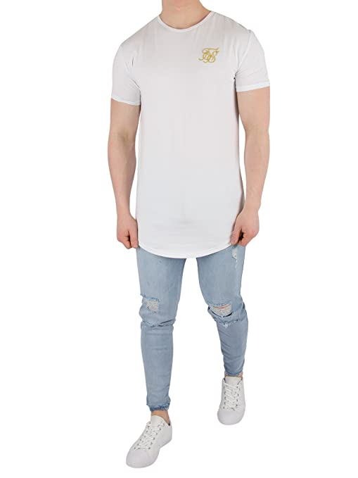 Sik Silk Camiseta Siksilk - S/s Gym Blanco/Dorado Talla: XL (X-Large): Amazon.es: Ropa y accesorios