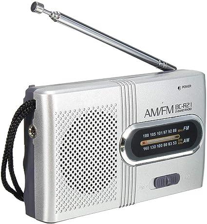 Voigoo Pequeñas Radio radios de Mini Radio FM de Radio de la ...