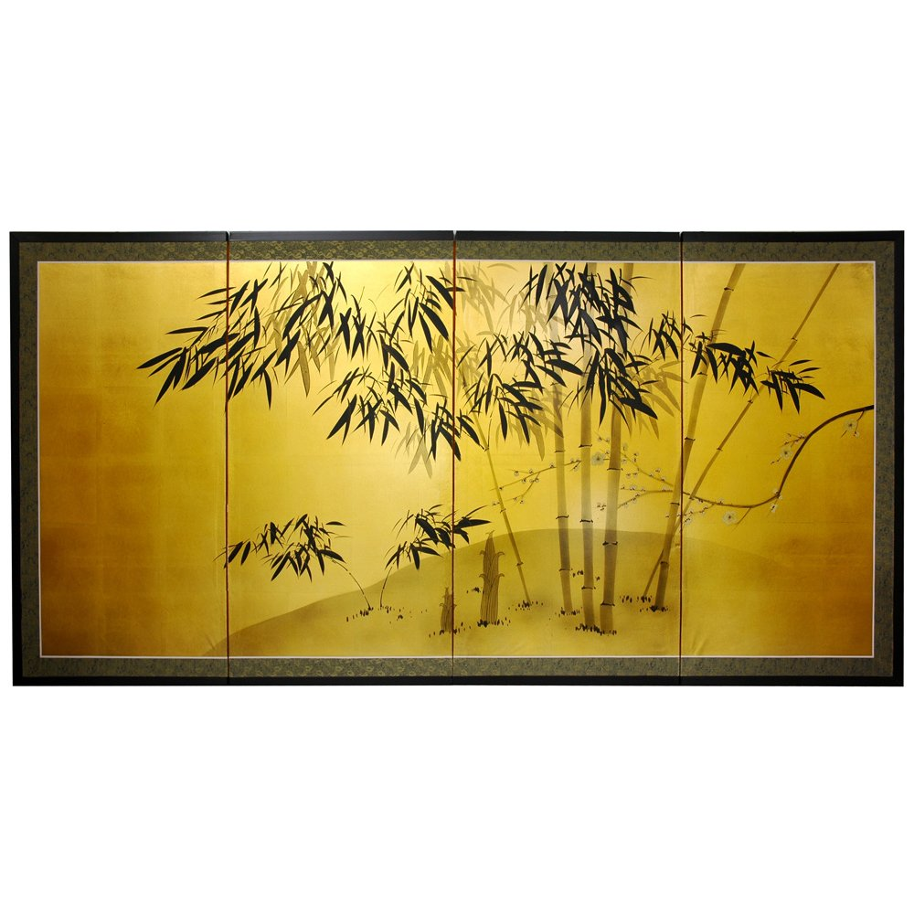 Oriental Furniture Gold Leaf Bamboo 36''H by ORIENTAL FURNITURE