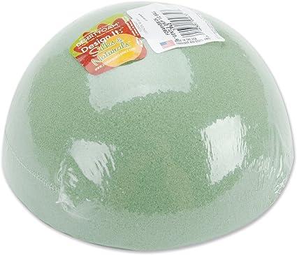 Green Floracraft FOBA6HB Dry Foam Half Ball 6-Inch x 3-Inch