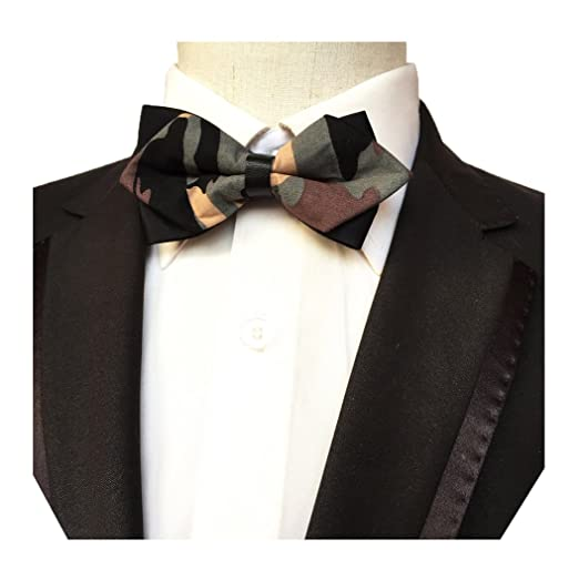 4257f2ede24e MENDENG Men's Navy Blue Army Green Camouflage Fruit Bowtie Tuxedo Bow Tie  Ties at Amazon Men's Clothing store: