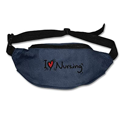 I Love Nursing Adjustable Fanny Running Waist Pack Bag