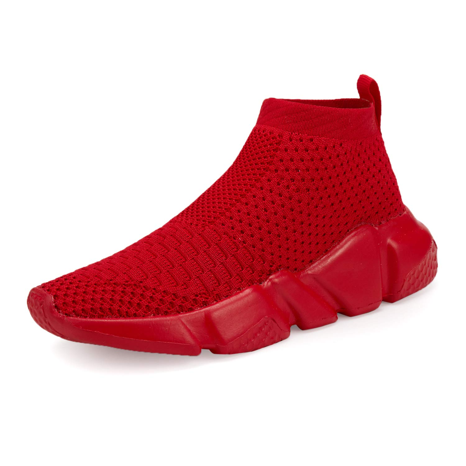 Casbeam Boys and Girls Breathable Lightweight Fashion Casual Sports Walking Shoes Running Sneakers 044 All Red 34