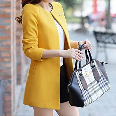 Dapengzhu Fashion Round Neck Long Sleeve Women Coats S-XXL Solid Color Casaco Feminino Loose