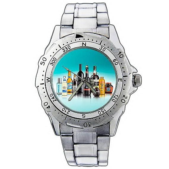 Reloj de pulsera de los hombres ESE01-1204 Route 66 Samuel Adams Smirnoff Miller Lite Stainless Steel Wrist Watch: Amazon.es: Relojes