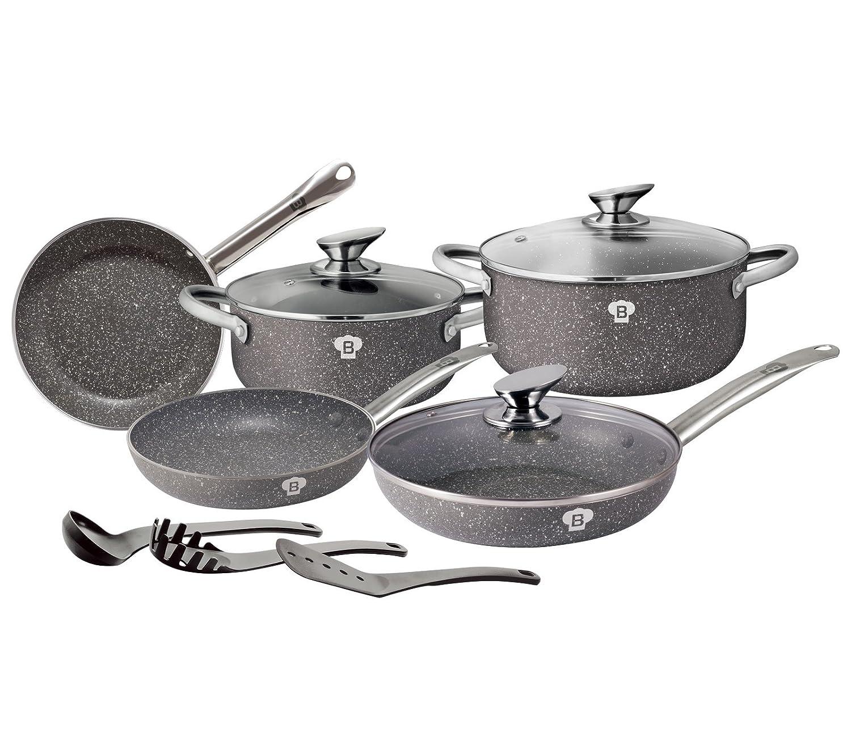 Granito olla Set 11 piezas - Set de sartenes Blaumann Le Chef Line BL de 3343: Amazon.es: Hogar