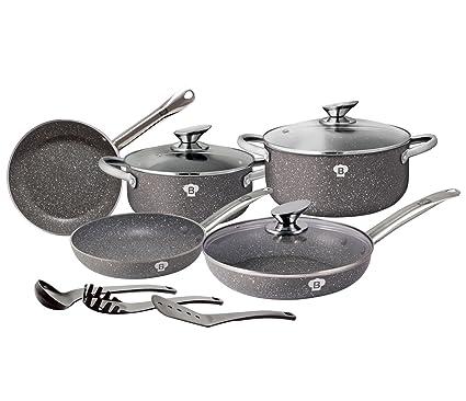 Granito olla Set 11 piezas - Set de sartenes Blaumann Le Chef Line BL de 3343