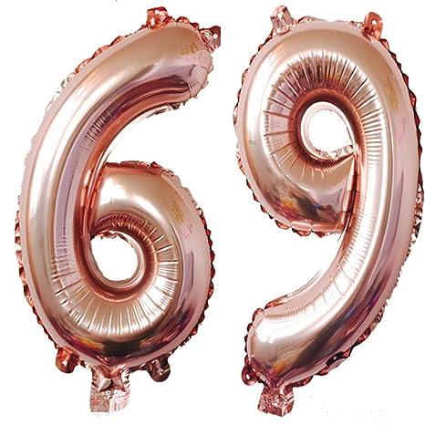 Amazon.com: 40 inch oro rosa Foil 69 helio Jumbo número ...