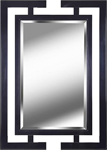 Kenroy Home Casual Wall Mirror ,41 Inch Height, 0.75 Inch Length, 29 Inch Width with Gloss Black