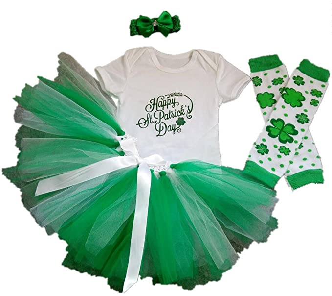 5b53ccb8e Amazon.com: AISHIONY Baby Girls 4PCS 1st St. Patricks' Day Tutu Outfit  Newborn Party Dress: Clothing