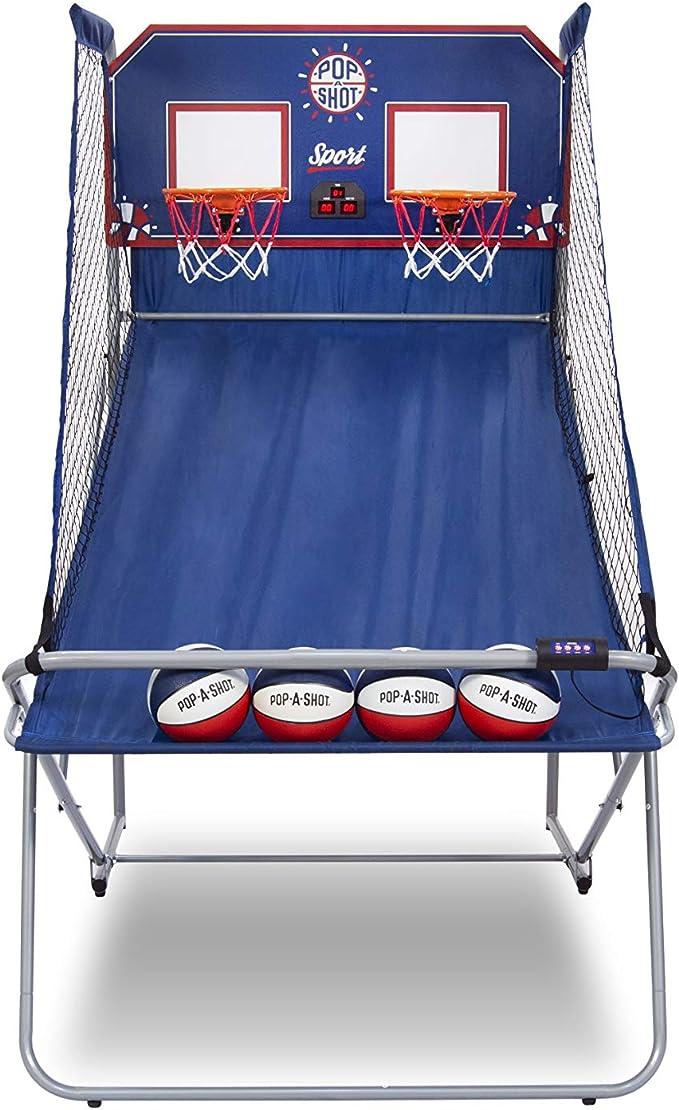 6 Au Pop-A-Shot Official Dual Shot Sport Basketball Arcade Game 10 Games