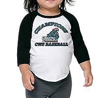 CWS Baseball Champions Coastal Chanticleers Infant 3/4 Sleeve Raglan Baseball Tee...